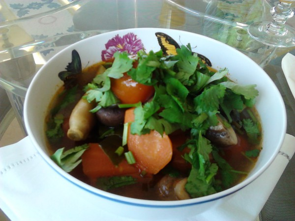Tom Yum with beef