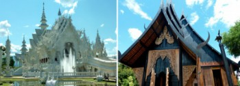 White temple & Black house