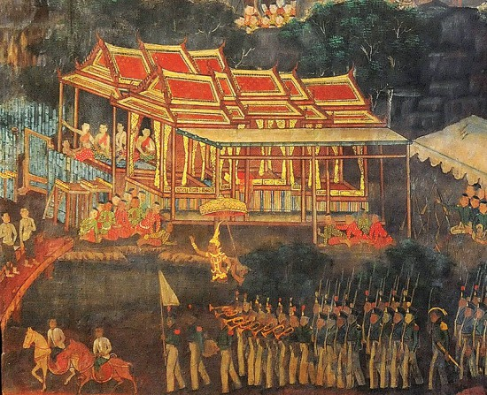 Sri Thanonchai mural painting Wat Pathum Wanaram Rajaworawihan (photo credit: culture.go.th)