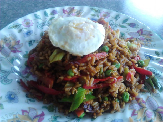 Homemade Nasi Goreng (photo taken by myself)
