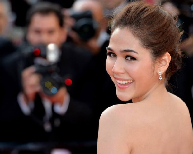 Thai-British actress Araya Hargate at Cannes Film Festival