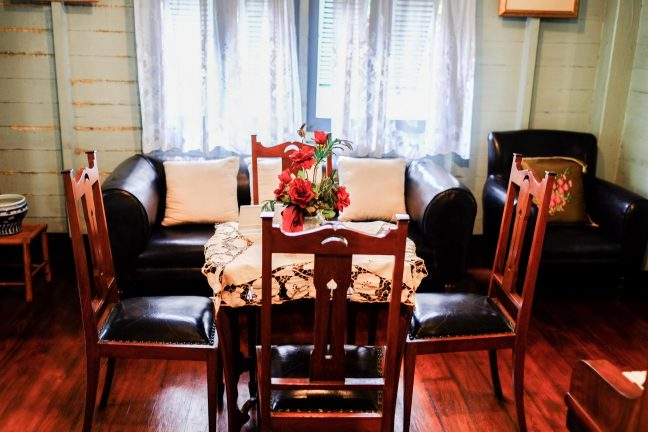 The dining room*