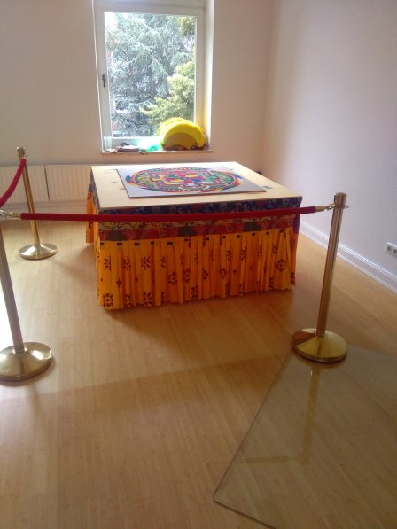 Sand mandala on the opening day of the Tibetan Center Hamburg-City